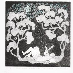 Une nuit dans la clairière 1/10 n°3 format 33x25cm